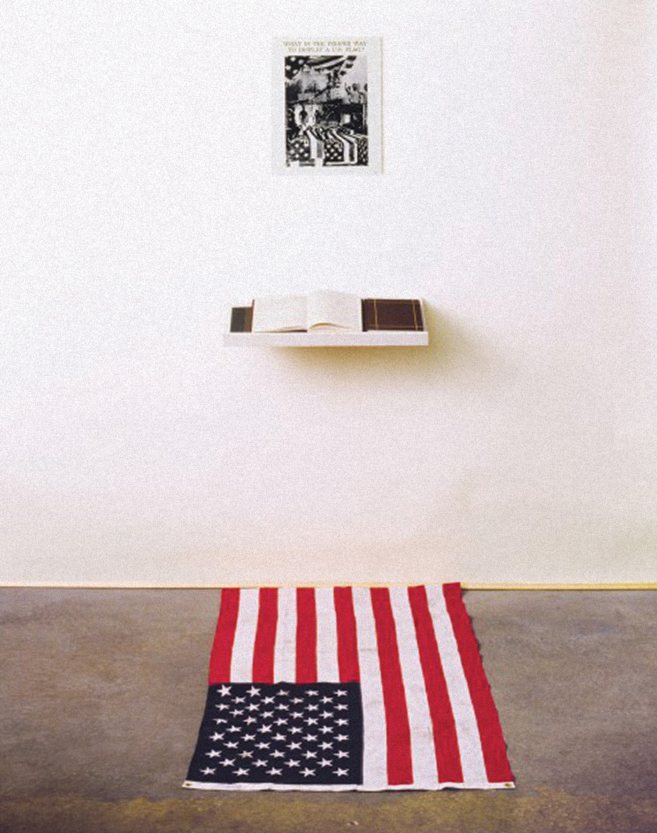 what is the proper way to display the us flag an interview with dread scott 150 years of saic. Black Bedroom Furniture Sets. Home Design Ideas