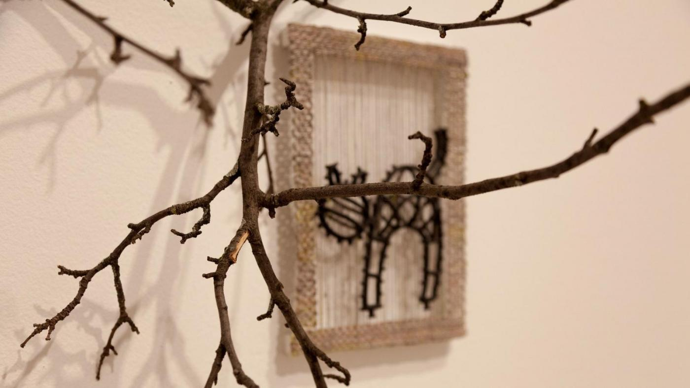 """Detail of a Karolina Gnatowski work featured in """"Some Kind of Duty,"""" through March 31 at DePaul Art Museum. (Laura-Caroline Johnson/Handout)"""