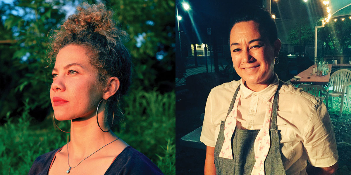 Two images of artists Anna Martine Whitehead and Genevieve Erin O'Brien next to each other.