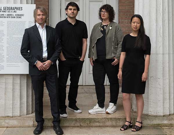 Left to right: Naill Atkinsons, Iker Gil, Mimi, Zeiger, Ann Lui. Photo: Francesca Bottazin, courtesy of the School of the Art Institute of Chicago and the University of Chicago