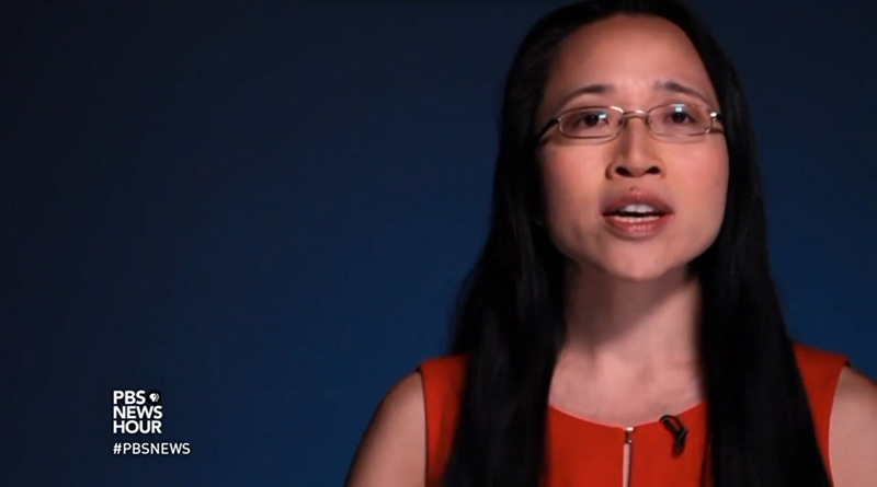 Mathemetician Eugenia Cheng in conversation with PBSNewsHour
