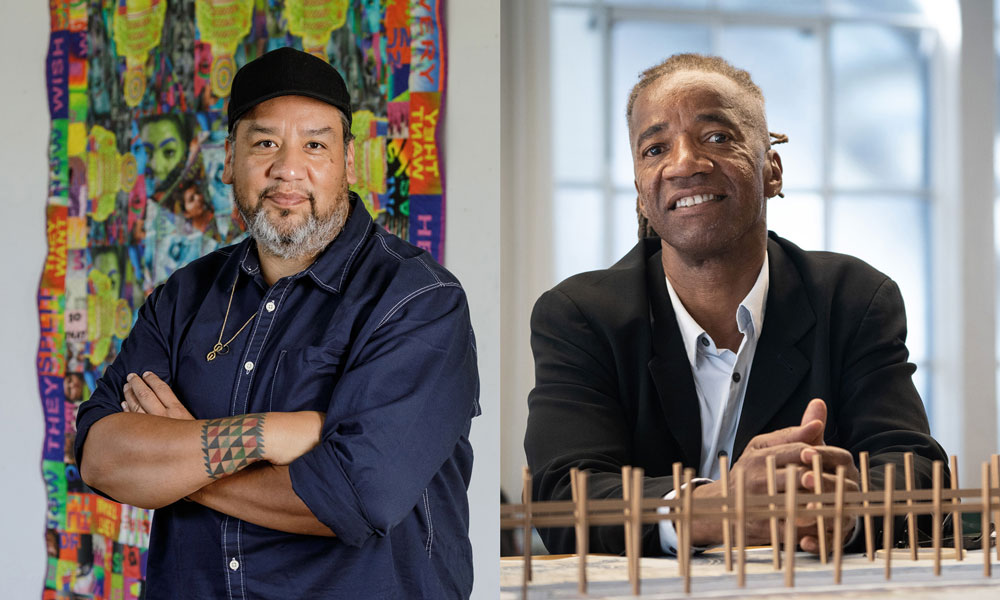 Jeffrey Gibson (BFA 1995) and Walter Hood (MFA 2013). Courtesy of MacArthur Foundation