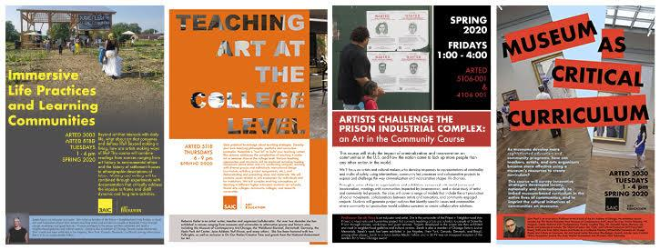 Art Education Spring 2020 Course Page Collage