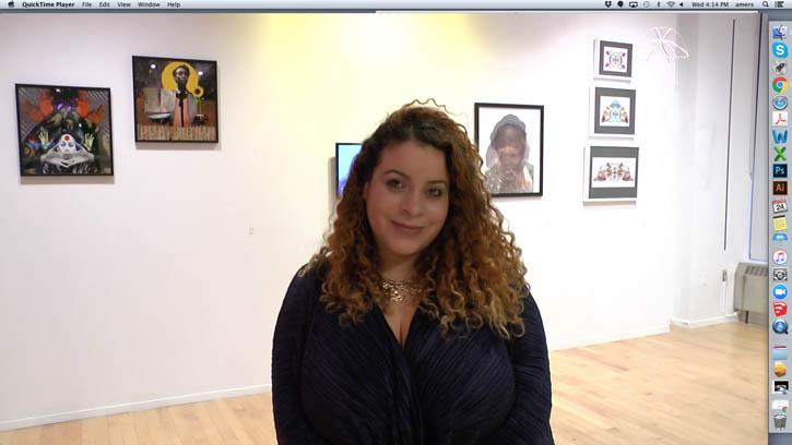 Arts Administration and Policy Fellowship 2017 Courtney Cintron in her exhibition Black Box.