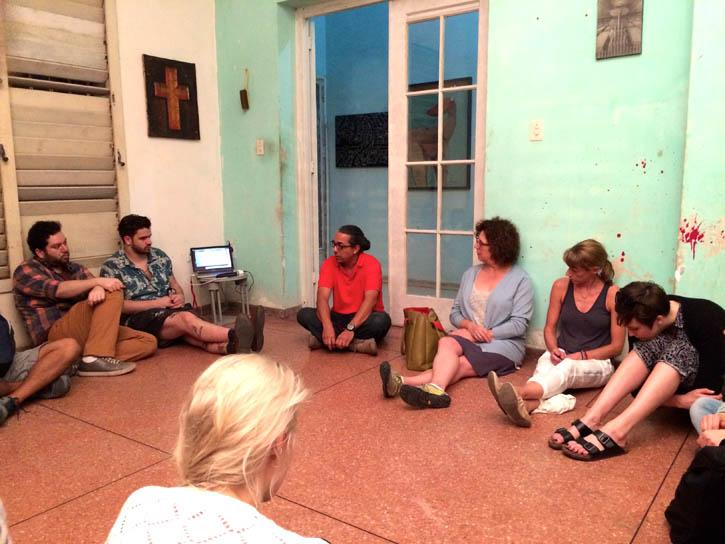 Cuba study trip with faculty Rachel Weiss 2015