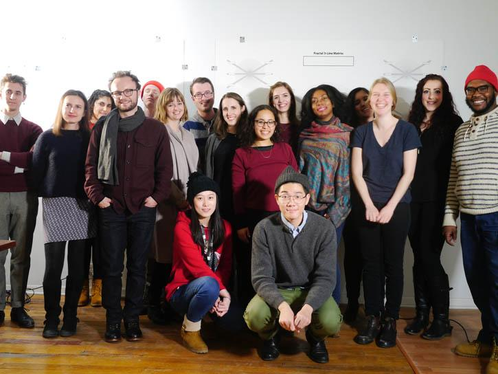 Emerge editor and contributor release party at Faculty Adelheid Mers' studio