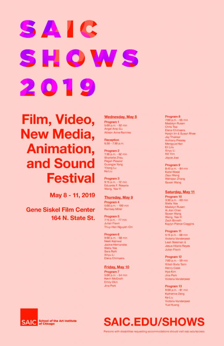 Film, Video, New Media, Animation and Sound Festival 2019