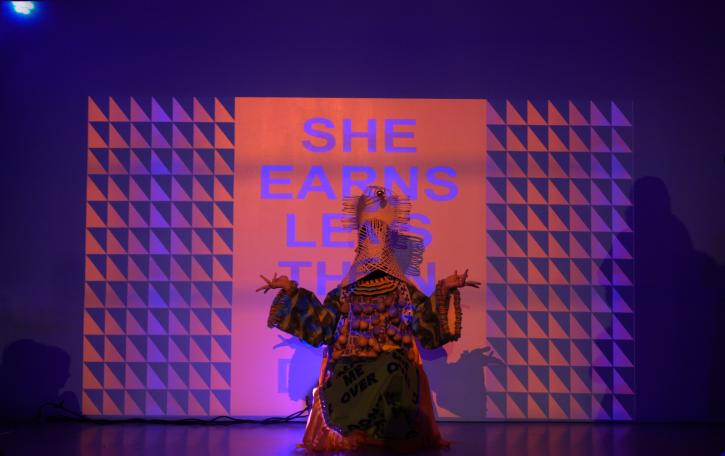 Jeffrey Gibson, The Spirits Refuse Without a Body, performance at the New Museum, February 21, 2019