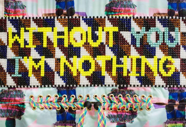 Jeffrey Gibson, Without You I'm Nothing, 2018