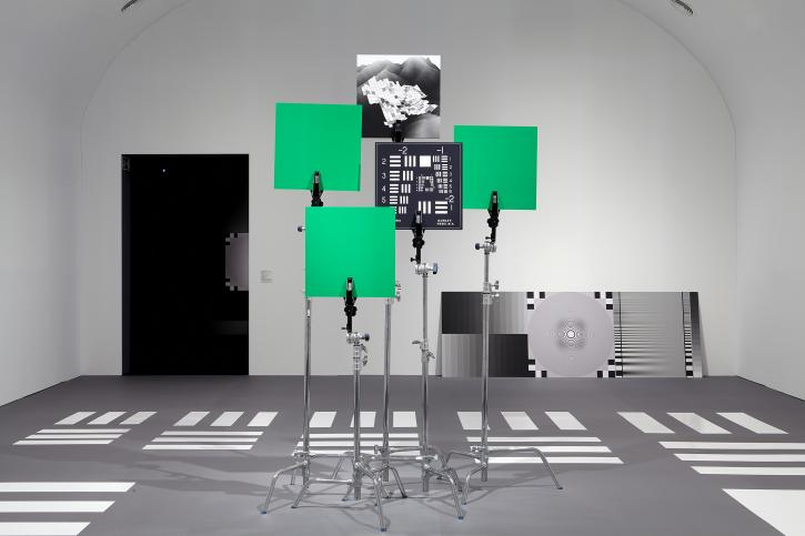 Hito Steyerl, How Not to Be Seen: A Fucking Didactic Educational .MOV File, 2013, HD video, single screen in architectural environment, 15 minutes, 52 seconds. Installation view, Museo Nacional Centro de Arte Reina Sofía, 2015.