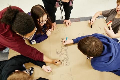 MSP Students sketch out toy design ideas
