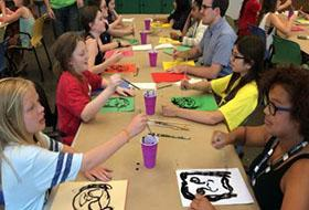 MSP Students work on painting projects