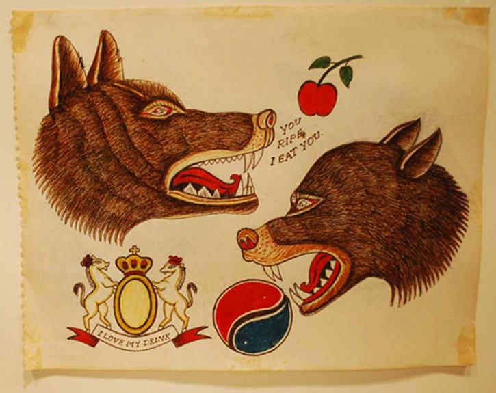 Tattoo flash art from the RBSC archive