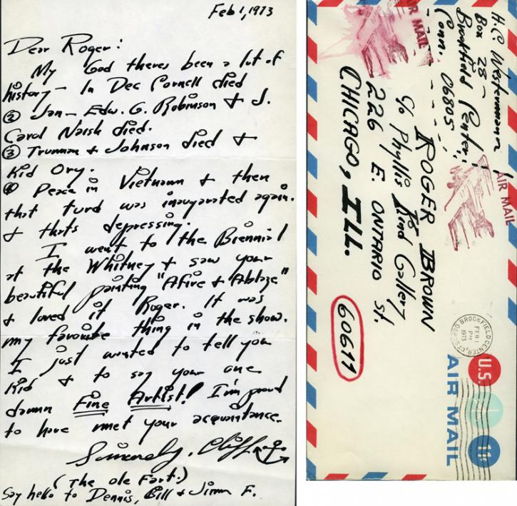 H. C. Westermann letter from the RBSC archive