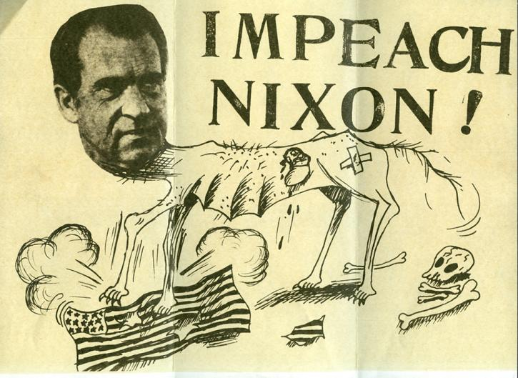 Impeach Nixon drawing from the RBSC archive