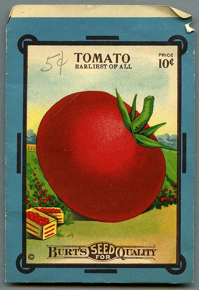 Tomato seed package of the RBSC archive