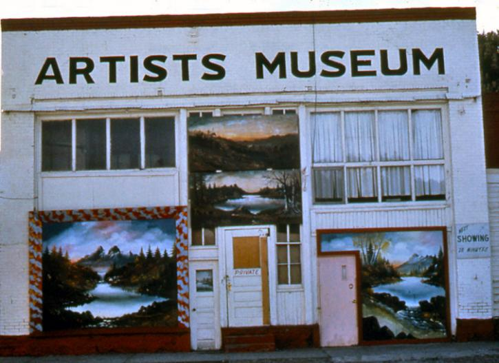 """Photo of building with """"ARTISTS MUSEUM"""" written across cornice"""