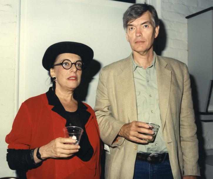 Phyllis Kind and Roger Brown at an opening.