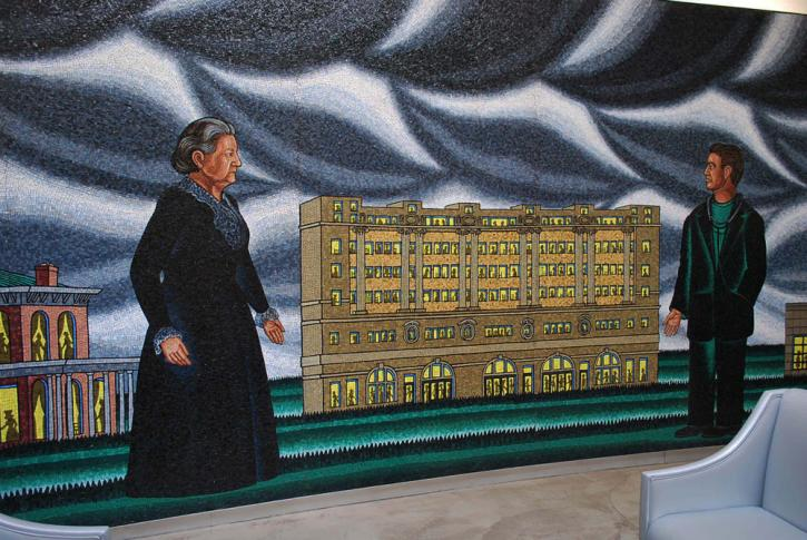 Detail, Roger Brown, Hull House, Cook County, Howard Brown: A Tradition of Helping