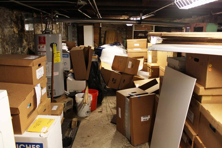 Chaos in the basement after the summer 2011 flood
