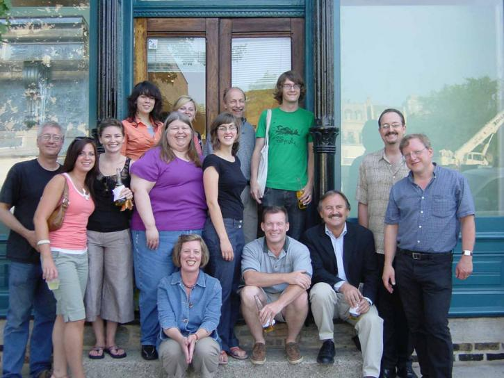 Restoration Methods class and preservation professionals who participated at the completion of the project, 2006