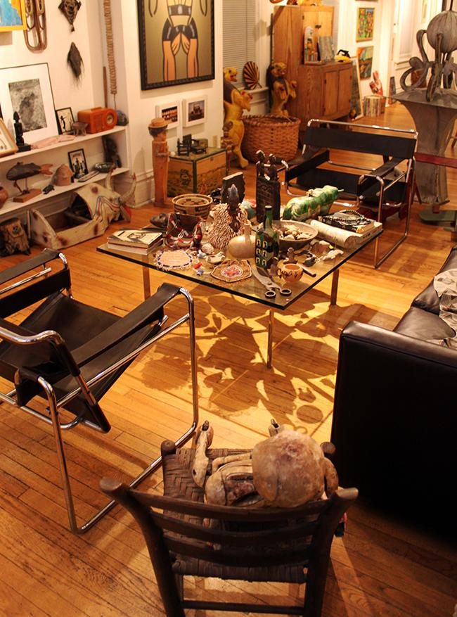 Living room of the Roger Brown Study Collection