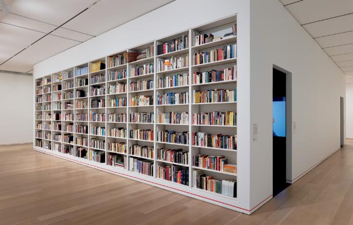 Gregg Bordowitz: I Wanna Be Well, 2019 exhibition, recreation of Bordowitz's personal library at the Art Institute of Chicago museum