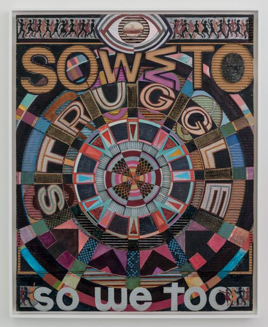 Jeff Donaldson, Soweto/ So We Too, 1979, mixed media, 39 x 30.5 in. Courtesy of Beth Rudin DeWoody