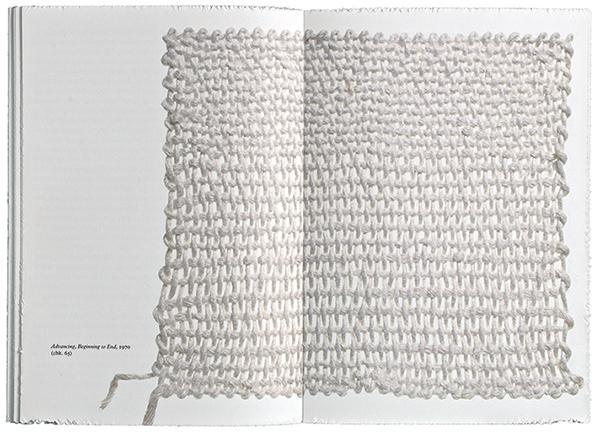 Sheila Hicks: Weaving as Metaphor. New Haven, Conn., London: Yale University Press, 2006. Courtesy of Irma Boom.