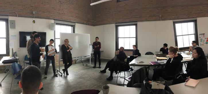Team taught course  with A. Mers and Jonathan Soloman with gurst Kenneth Bailey from Design Institute for Social intervention, Boston, at Homan Square tower classroom
