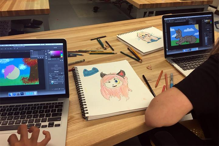 MSP Student works on animation project