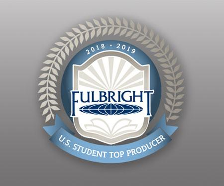 Top Producer of Fulbright Students for 2018–19