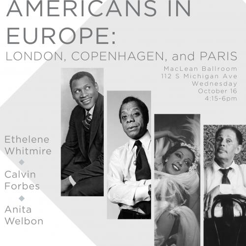 Poster featuring African Americans in Europe to be discussed