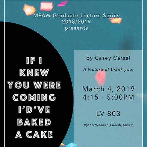 Casey Carsel lecture poster