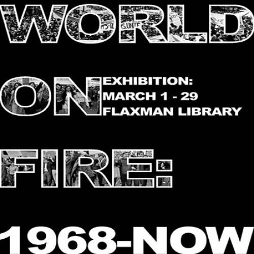 World On Fire Exhibition Poster 2019 Tile