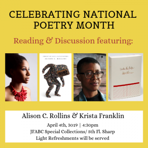 Alison Rollins and Krista Franklin Poetry Reading