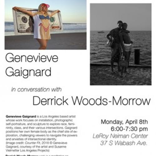 Photography department poster promoting Genevieve Gaignard