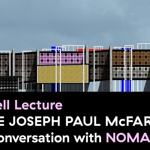 Poster for the Mitchell Lecture Series Featuring Jackie Joseph and Paul McFarland