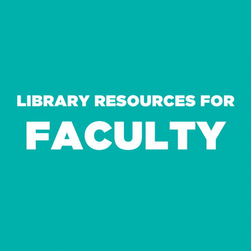 Library Resources for faculty for remote teaching