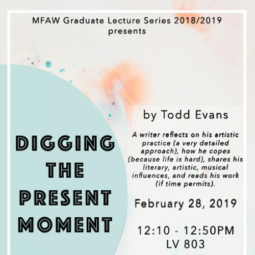 Todd Evans lecture poster