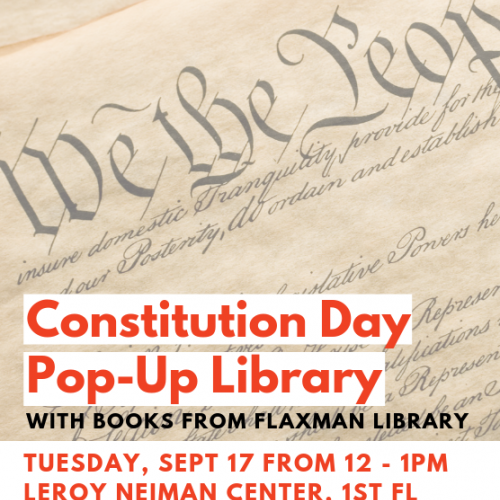 Flaxman Library Constitution Day Pop-Up