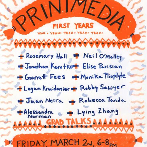 Printmedia first year grad talks, March 2018