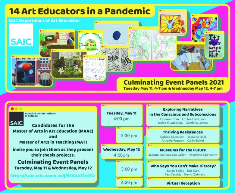 Art Education Culminating Thesis Event Poster