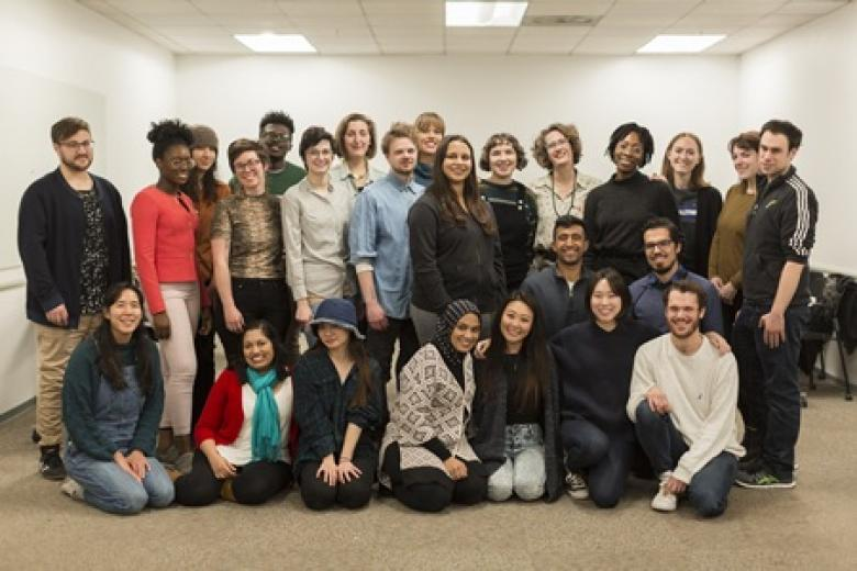 Group photo of writing center staff