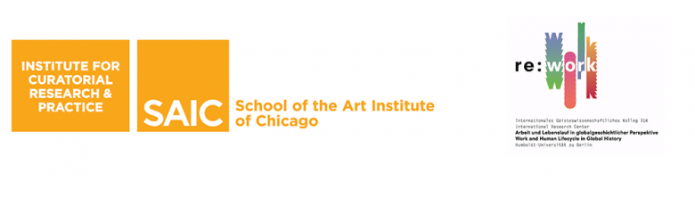 Institute for Curatorial Research and Practice - Re:Work logos