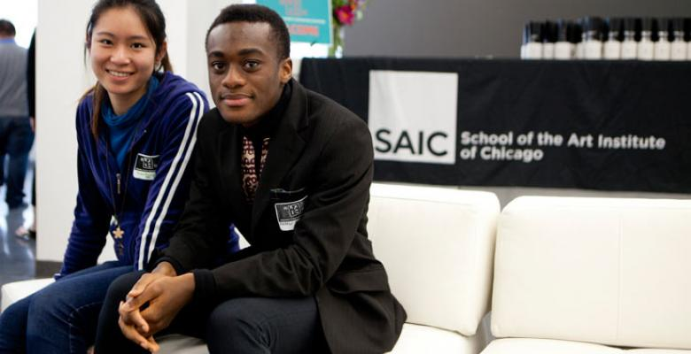 Two International Students attend event at SAIC