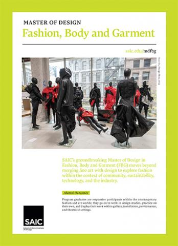 Master of Fashion Body Garment Brochure Cover
