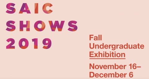 Sign for Fall Undergraduate Exhibition