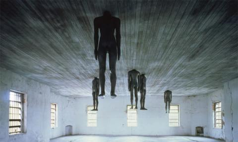 "Antony Gormley's, Learning to Think (1991), from Mary Jane Jacob's ""Places with a Past"" Spoleto Festival USA."