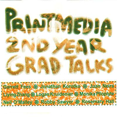 poster with details about Printmedia grad talks